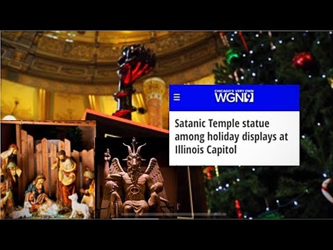 ORIGINAL SIN On Display for the Holidays?! Baphomet Next To A Manger? END TIMES INDEED 1