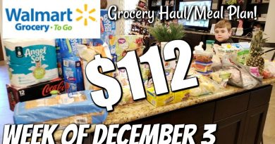 GROCERY HAUL & MEAL PLAN   WALMART   FAMILY OF 4   12/3/18 4