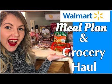 GROCERY MEAL PLAN & WALMART GROCERY HAUL || 12/9-12/15 1