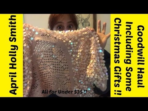 Goodwill Sweater Haul| Kids & Adult|Christmas Gifts| April Holly Smith 1