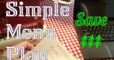 SIMPLE MENU PLAN | SAVE MONEY!! $$$ 2