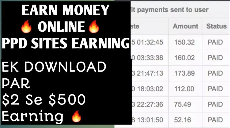 Earn $10 To $200 From PPD sites Smart earning ideas 1