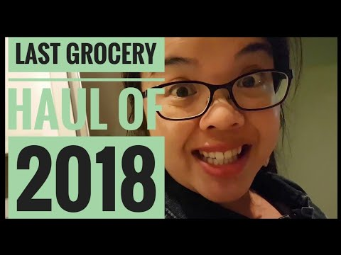Last Grocery Haul of 2018 | How I save $$ on groceries 1