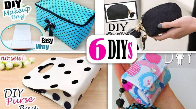 6 DIYs BEST BAG IDEAS NO SPEND MONEY // Cute Purse Bag Tutorial Easy 1