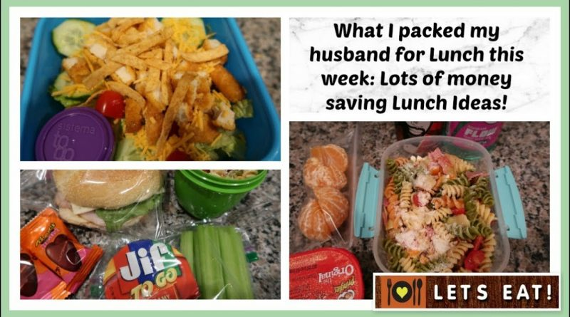 What I packed my Husband for Lunch | Money saving Lunch Ideas! 1