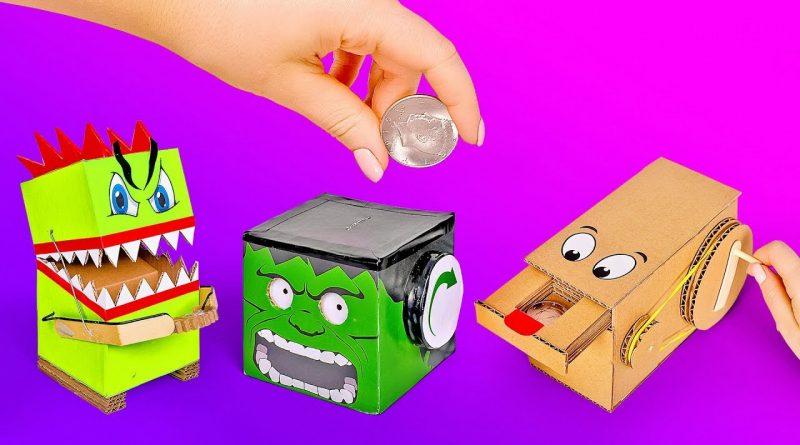 3 Useful Coin Saving Ideas with Cardboard 1