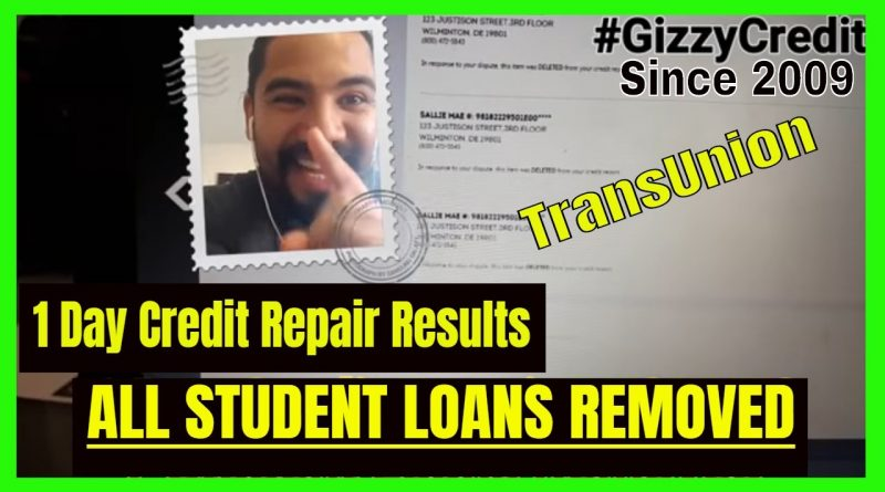 1 Day FAST credit repair results/ how to remove student loans from credit report 1