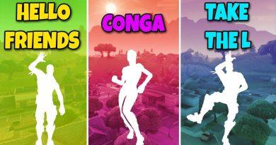 HELLO FRIENDS EMOTE vs CONGA EMOTE vs TAKE THE L EMOTE - Fortnite Battle Royale (Dances Compilation) 4