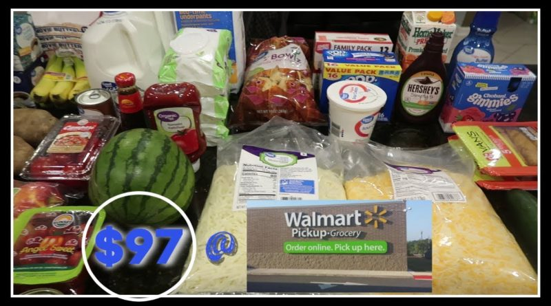 This weeks $97 Walmart Grocery Pick Up and the meal plan! 1
