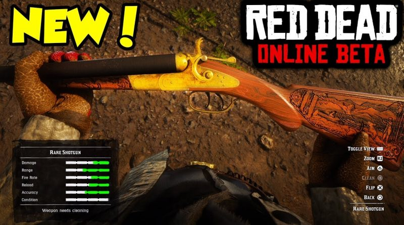 The New RARE SHOTGUN in Red Dead Online.. 1