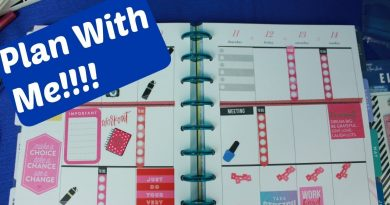 Plan With me In my Happy Planner for the Week of 4/8 to 4/14th 2