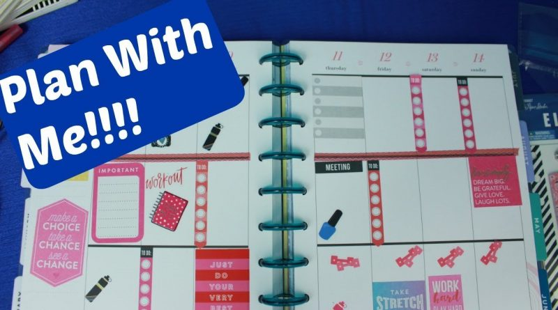 Plan With me In my Happy Planner for the Week of 4/8 to 4/14th 1