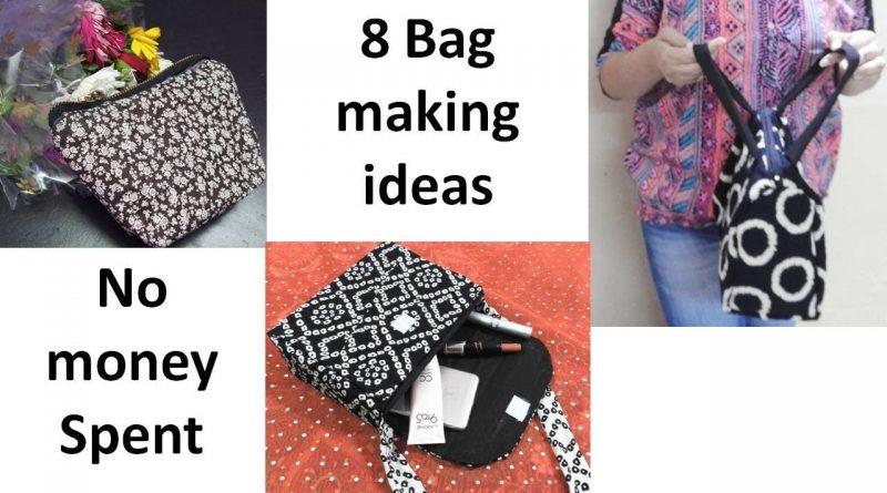 8 Bag Making diys ideas | No money spent | Easy bag making tutorials | Learning Process 1