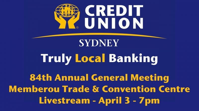 Sydney Credit Union 84th Annual General Meeting 1