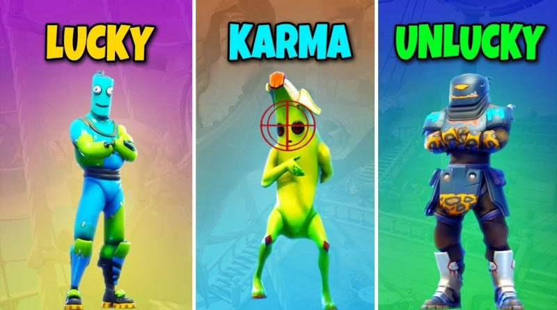 LUCKY vs KARMA vs UNLUCKY in Fortnite Battle Royale! BR #444 1