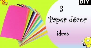 3 paper decor ideas | no money decor ideas | easy peasy decor ideas with paper | made under 5 min 2