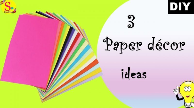 3 paper decor ideas | no money decor ideas | easy peasy decor ideas with paper | made under 5 min 1