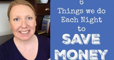 6 Things we do Every Night to Save Money 2