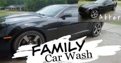 Washing The Car Family Style | Enjoying Family Time While Cleaning | Saving Money Washing Own Car 3