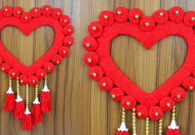How to make a beautiful woolen wall hanging for home decoration | Woolen craft ideas