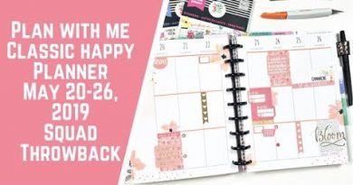 Plan with Me- Classic Happy Planner- May 20-26, 2019- Squad Throwback 4