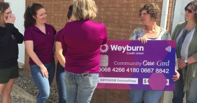 Weyburn Credit Union Denim For Donations Proceeds Presented to Envision Today 2