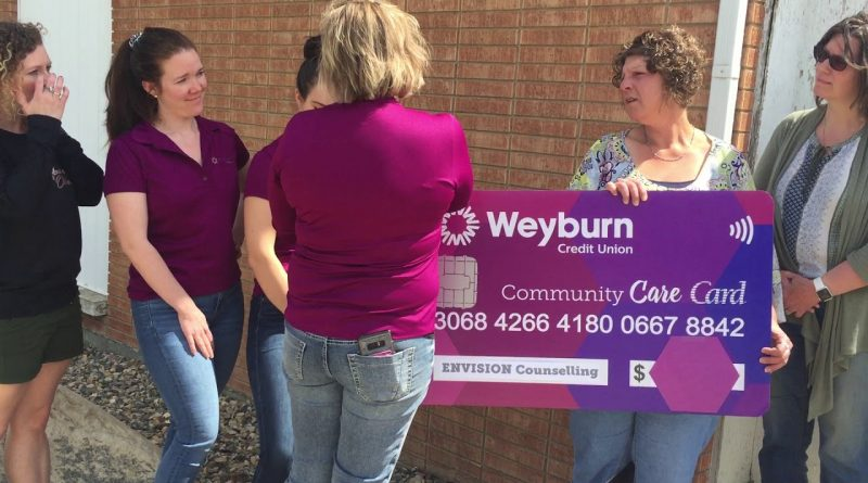 Weyburn Credit Union Denim For Donations Proceeds Presented to Envision Today 1