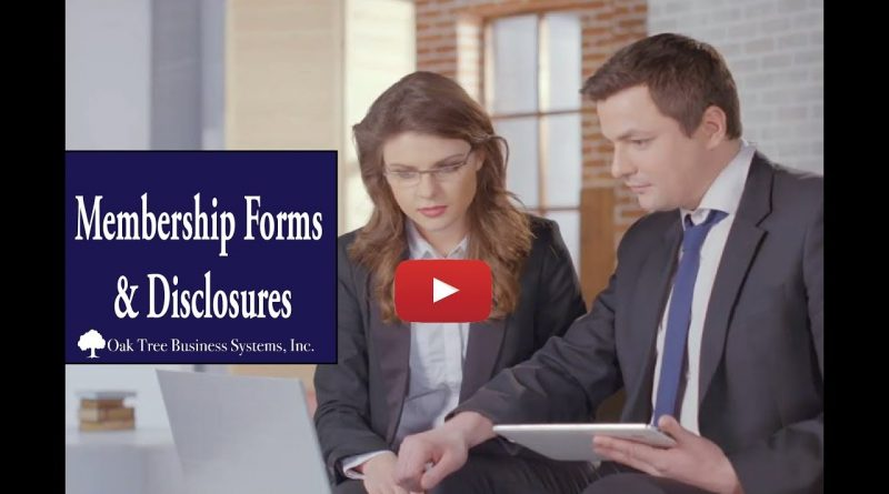 Membership Forms and Disclosures Credit Union Packages 1