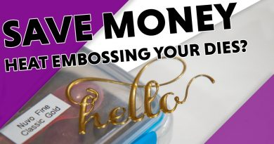 2 Minute Money Saving Tip - Create Faux Metal Embellishments with Heat Embossing 2