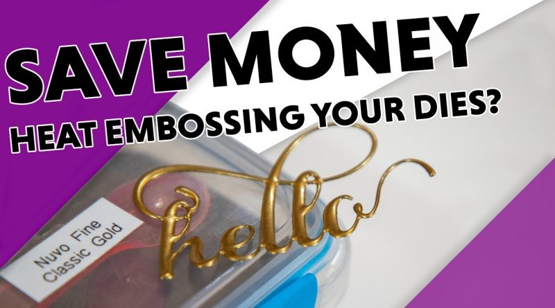 2 Minute Money Saving Tip - Create Faux Metal Embellishments with Heat Embossing 1