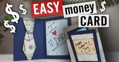 Father's Day Money Gift Card Idea - How to Fold an Origami Tie 4