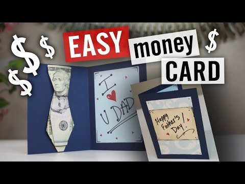 Father's Day Money Gift Card Idea - How to Fold an Origami Tie 1