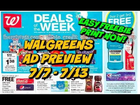 WALGREENS AD PREVIEW (7/7 - 7/13) EASY FREEBIE...PRINT NOW! 1