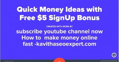 Quick Money making Ideas with Free $5 Bonus|How to make money online Fast|kavithaseoexpert.com 4