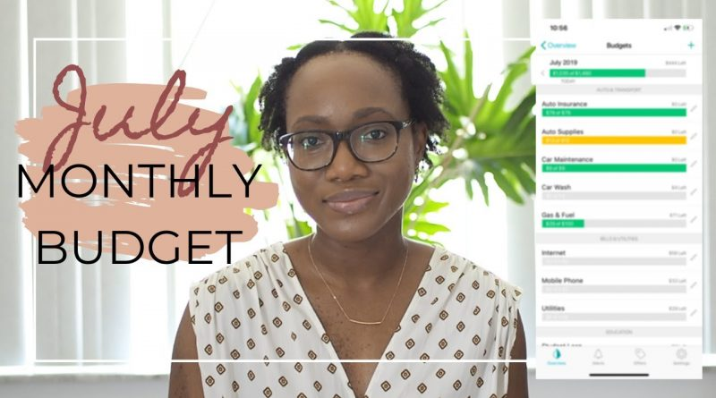 July 2019 MONTHLY Budget: Bills, Student Loans, Groceries, Healthcare, & Housing | Actual Numbers 1