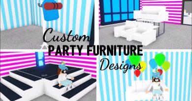 8 Custom PARTY FURNITURE Design Ideas & Building Hacks (Roblox Adopt me)   Its SugarCoffee 3