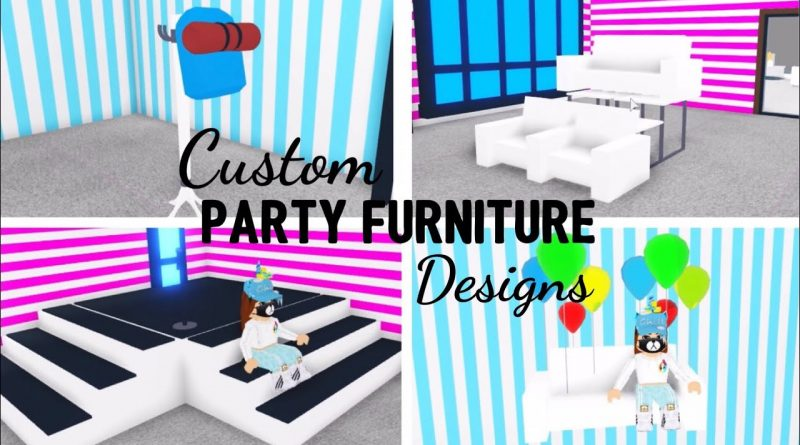 8 Custom PARTY FURNITURE Design Ideas & Building Hacks (Roblox Adopt me) | Its SugarCoffee 1