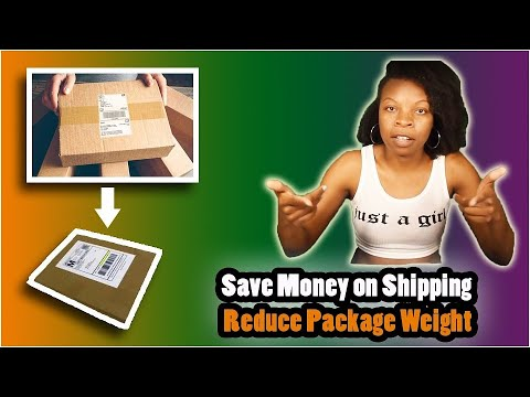 DIY Packaging Ideas for Saving Money - Learn How to Make Your Package Weigh Less for Shpping! 1