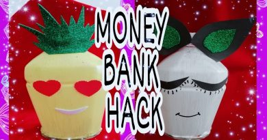 4 Creative Ideas to make Money/cash bank with plastic bottle by Ray Collections 3