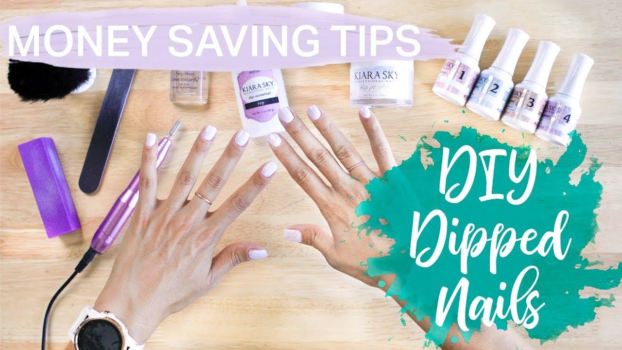 Saving Money - DIY Dipped Nails - Advance On Pay