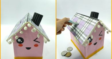 How To Make cute House Saving Money From Cardboard || Creative Idea From Cardboard 4