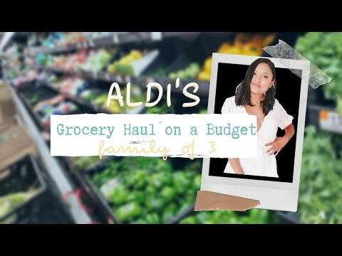 Aldi's Weekly Grocery Haul (2019) | healthy groceries on a budget family of 3 | BETTYSMILES 5