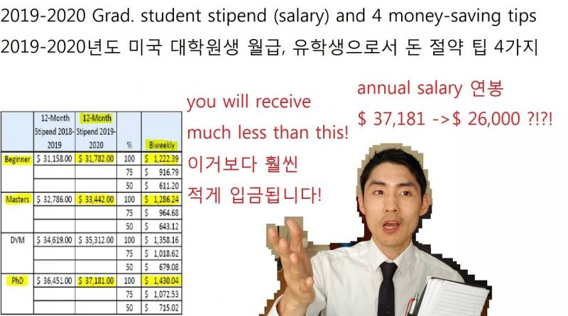[2019 updated] Ph.D. student true salary and money-saving tips 1