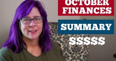 October Finances Summary / Saving Money / Paying Debt Off 3