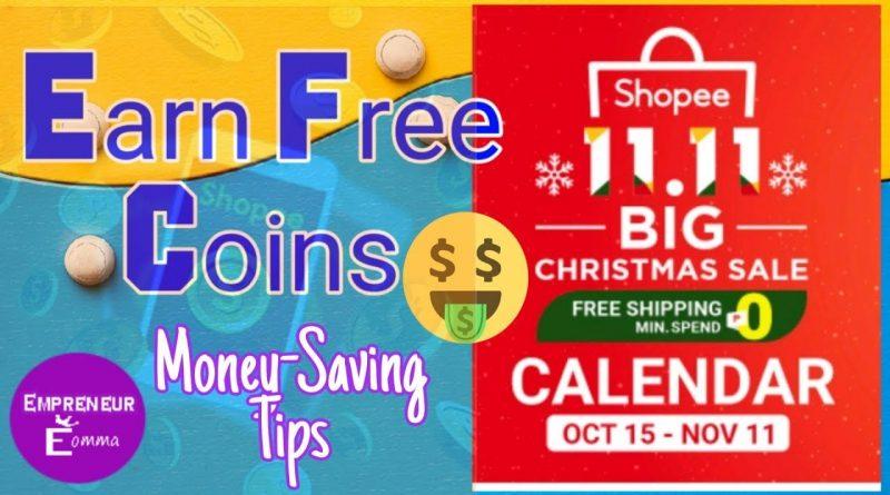 Shopee 11.11 Big Christmas Sale | Earn FREE Shopee Coins | Money Saving Tips 1