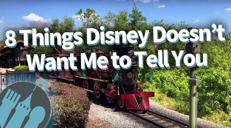 8 Things Disney Doesn't Want Me To Tell You! 1