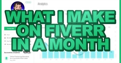 What I Make On FIVERR A Month 2