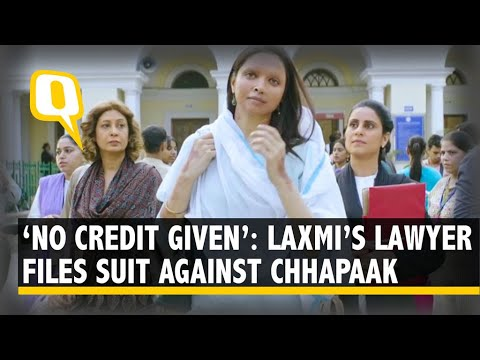 Laxmi's Advocate Files Suit Against 'Chhapaak': 'No Credit Given, Extremely Unfortunate' 1