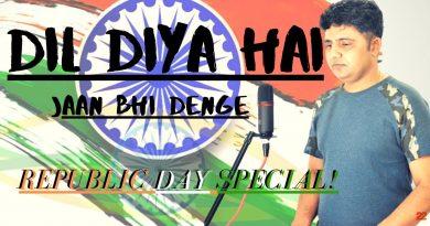Republic day special|Aye watan tere liye-Karma|Patriotic song cover-Unplugged|Vivek Khangura|(2020) 4