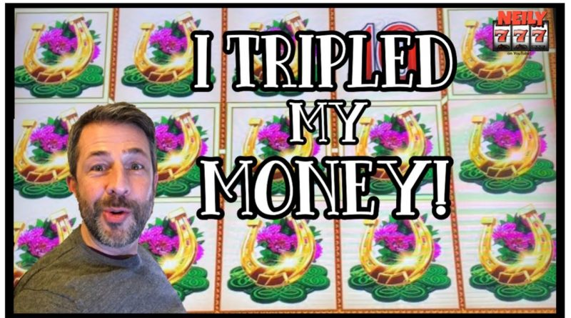 I GOT THE FASTEST BIG WIN EVER AND TRIPLED MY MONEY! NEW LEPRICOINS SLOT MACHINE! 1